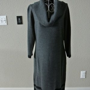 Jessica Howard Steel Gray Fitted Sweater Dress SzL